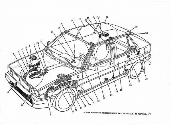Sada dílů Abarth pro zpevnění karoserie Scara 73
