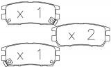 Brzdové destičky Mitsubishi Lancer Evo III a IV