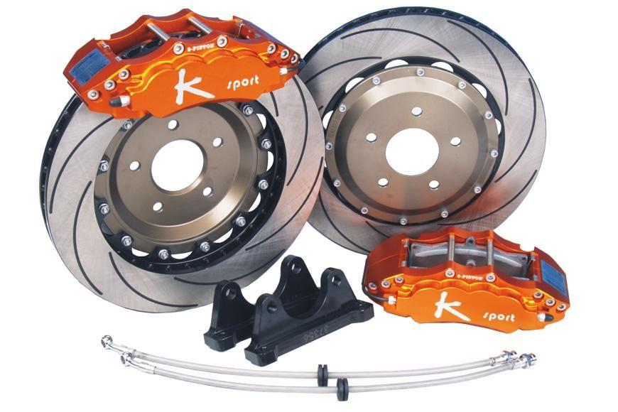 Sportovní brzdový kit K-Sport s 8pístkovými třmeny a plovoucími kotouči
