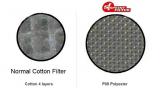 Porovnání vzduchového filtru SF a bavlněné vložky pod mikroskopem